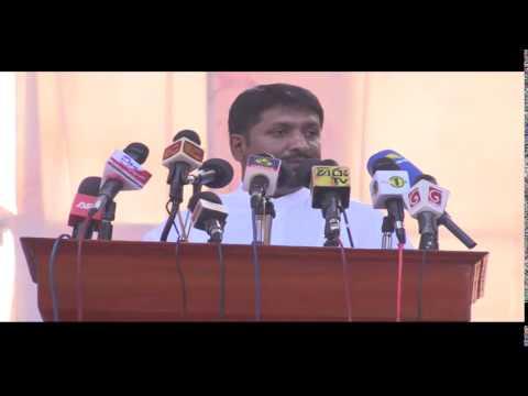 [Sinhala] SL Defence Minister Ruwan Wijewardene at Palaali in Jaffna