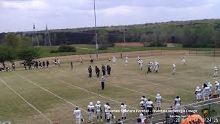Riverdale Spartans Semi-Pro Football - 04-14-18 - vs Georgia Dawgs - Game Video