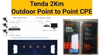 Tenda 2km outdoor point to point cpe | Tenda outdoor access point | Tenda point to point cpe