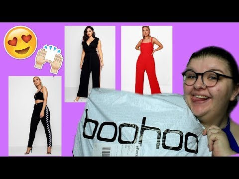 BOOHOO PLUS SIZE FASHION HAUL, TRY ON & REVIEW! | Chloe Benson