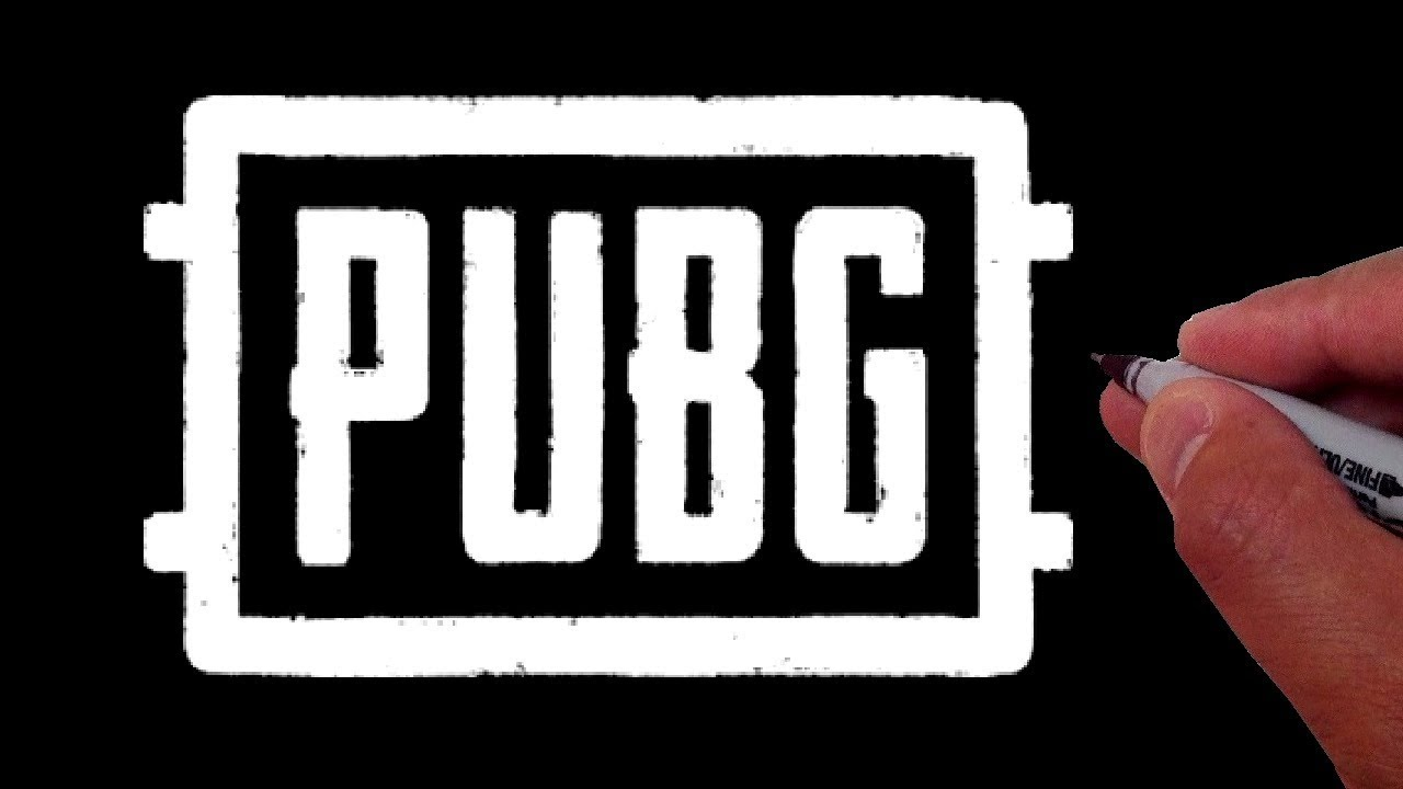 how to draw the pubg logo youtube