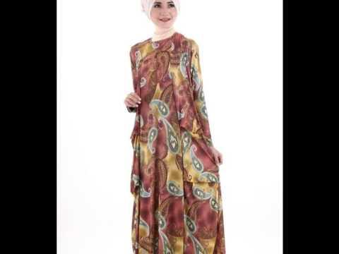 Model baju gamis muslim terbaru 2015 untuk resepsi youtube Baju gamis versi 2015