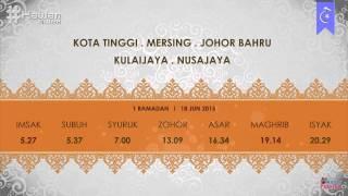 Waktu Imsak Dan Berbuka 1 Ramadan