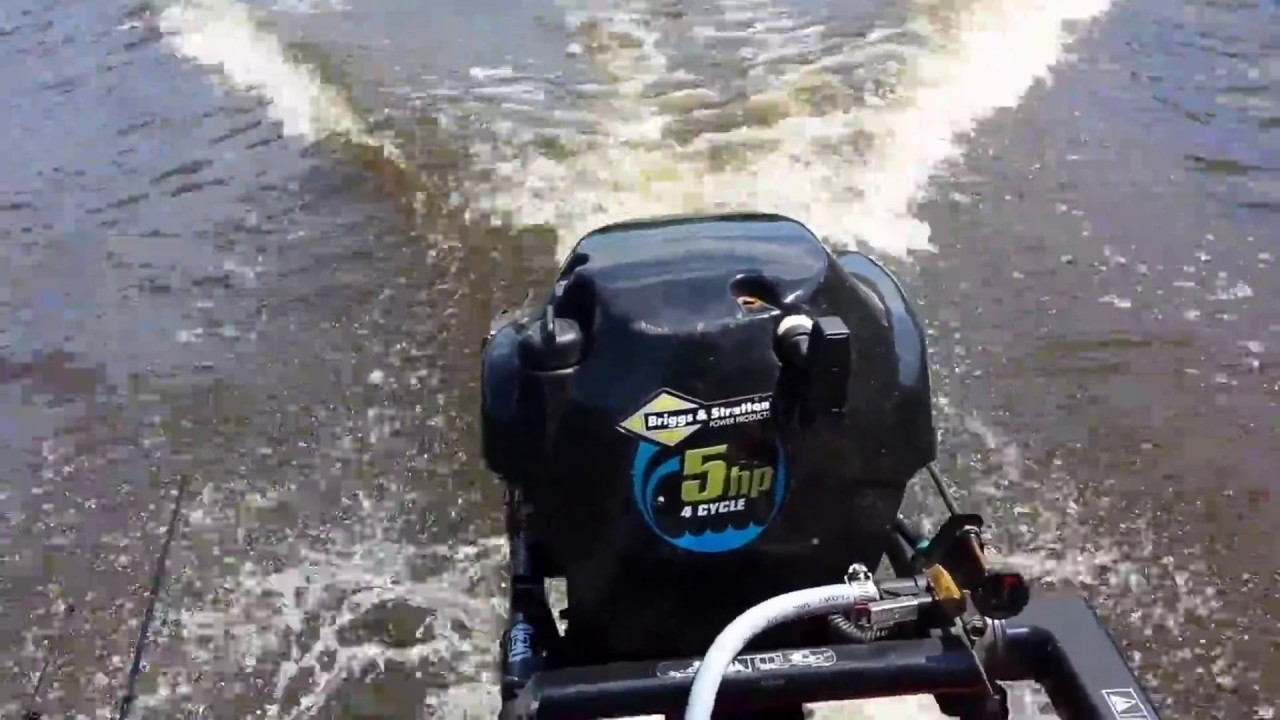 5 H P Briggs And Stratton Outboard Motor Review Youtube