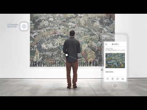 Beacon technology applied to modern art museum in Krakow
