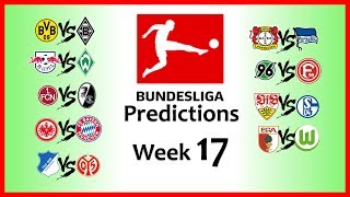 2018-19 BUNDESLIGA PREDICTIONS - WEEK 17