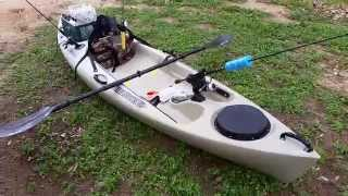 Heritage Angler 10 Kayak Review/Setup(Here is my sit on top kayak that I will be using for fishing! It is the perfect size for me, I'm about 130 lbs. and this kayak is easy to stand in and sturdy out on the ..., 2015-03-16T11:10:24.000Z)