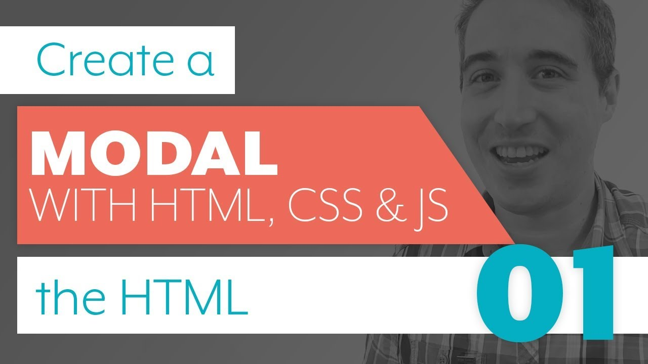 How To Create A Modal With Html Css Js Part 1 Html Youtube