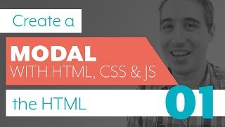 How to create a modal with HTML, CSS & JS - Part 1: HTML