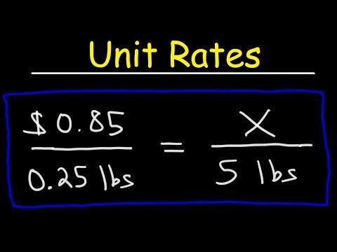 Unit Rates, Ratios & Proportions - Word Problems