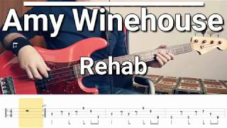 Amy Winehouse - Rehab (Bass Cover) TABS