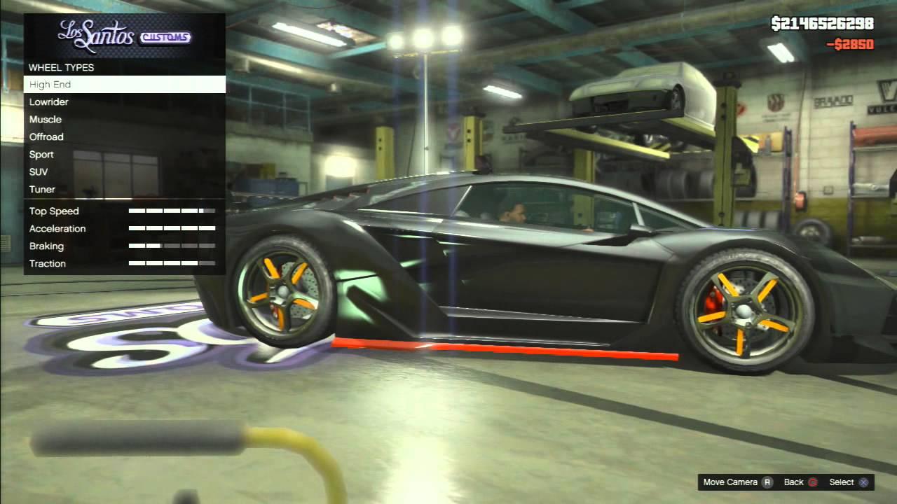 Gta 5 Custom Car Build Pegassi Zentorno Lamborghini Sesto Elemento Youtube