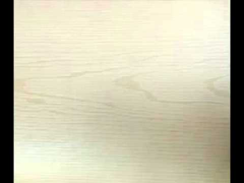 Distressed Wallpaper On Wood Faux Panels Paneling