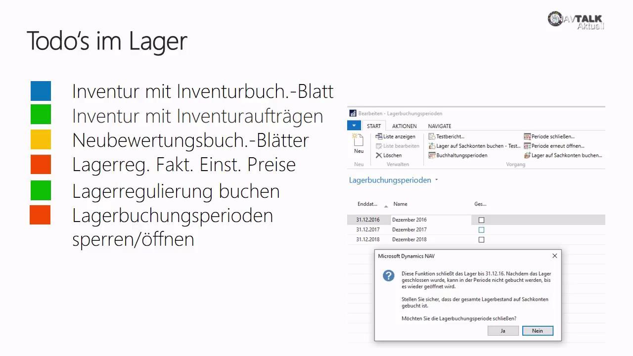 Learn4NAV: Dynamics NAV 2018 - Aufgaben im Lager beim ...