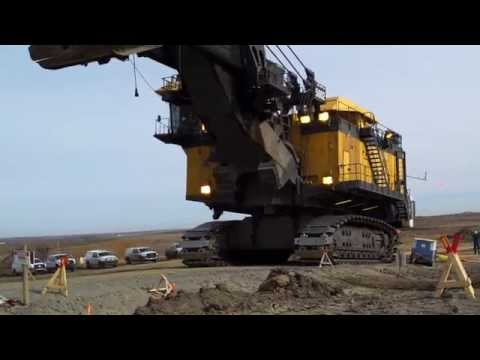 4100 P & H Shovel Walking at Sherritt Coal, Genesee Mine