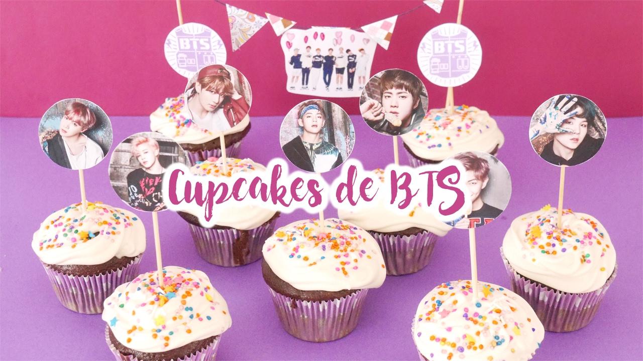 Diy K Pop Regala Cupcakes De Bts Por San Valentin Youtube