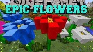 Minecraft: EPIC FLOWER MOD (GIANT FLOWER BIOME, FLOWER CREATOR, & MORE!) Mod Showcase