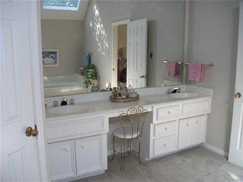 Bathroom Vanity With Makeup Area Youtube