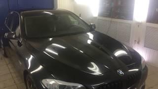 Снег на крышу BMW5 Ремонт без покраски 1