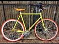 Restauración bicicleta de carretera a fixie