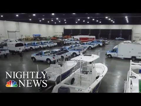 Emergency Vehicles Standing By As Hurricane Florence Approaches   NBC Nightly News