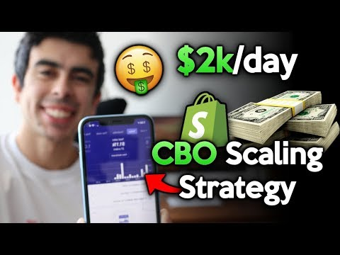 NEW $2000/Day CBO Scaling Strategy | Facebook Ads For Shopify Dropshipping 2019 thumbnail