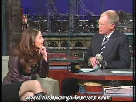 Aishwarya on Letterman