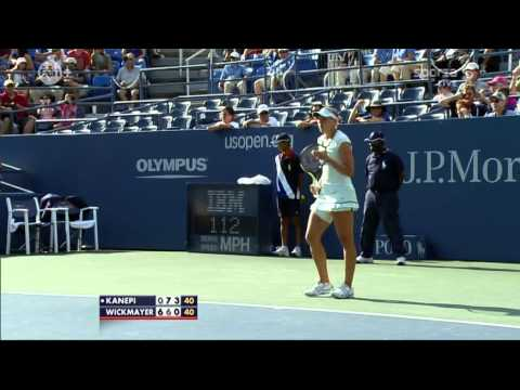 Kaia Kanepi vs Yanina Wickmayer 4th round US Open 2010 third set