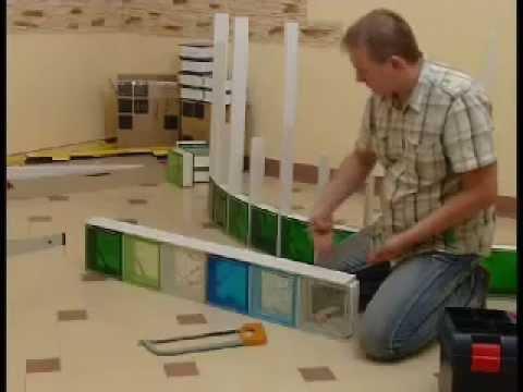 SEVES Quicktech - Gebogene Wände Verlegesystem für Glassteine - YouTube
