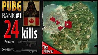 PUBG Rank 1 - Kaymind 24 kills [NA] Solo FPP - PLAYERUNKNOWN'S BATTLEGROUNDS