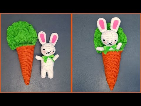 Amigurumi Rabbit Tutorial : Crochet tutorial bunny amigurumi in a carrot cocoon youtube