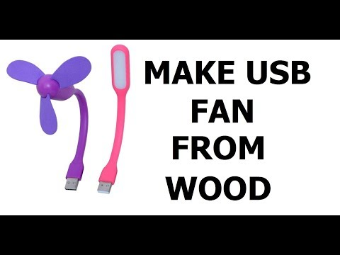 MAKE USB FAN FROM WOOD DIY