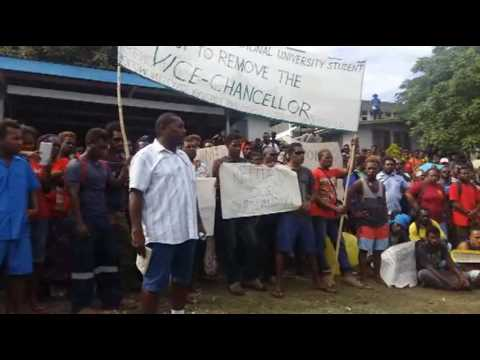 SINU students protest to remove Vice Chancellor