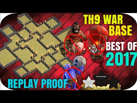 BEST TH9 WAR BASE | ANTI 2 STARS | WITH BOMB TOWER | NEW UPDATE 2017 | Clash of Clans | Town hall 9