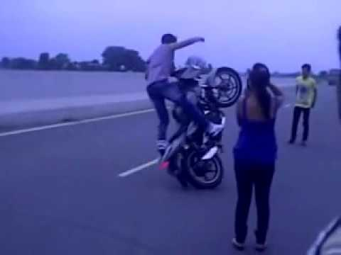 pulsur and r15 having mindblowing stunts by sunil rocksss