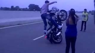 pulsur and r15 having mindblowing stunts by sunil rocksss