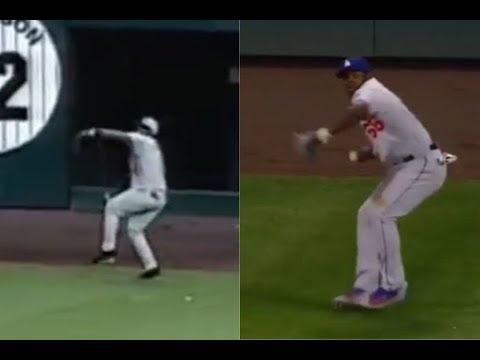 Jose Guillen vs Yasiel Puig Coors Field throws