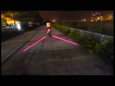 6 Led Laser Bike Tail Light Bicycle Laser Taillights Warning