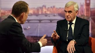 'I don't think there is a majority in parliament for no deal,' says John McDonnell