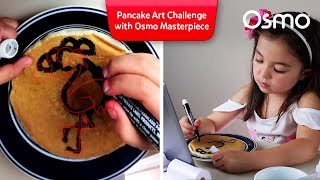 Flamingo Friday! It's a Pancake Art Challenge with Osmo Masterpiece and Cathleen Toy Reviews