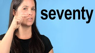 How to Pronounce SEVENTY — American English