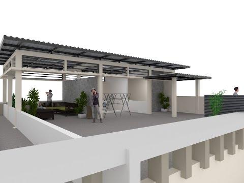 Perubahan Model Sosoran lantai 1  2 Dan Penambahan Ruang