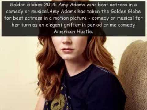 Amy Adams wins best Actress in Golden Globe Awards 2014, American Hustle