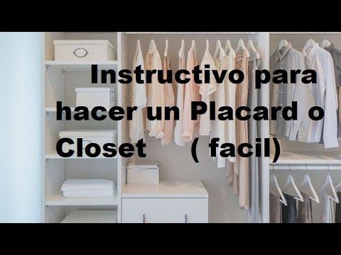 Placard o Closet  Leccion Nº 20  (instructivo)