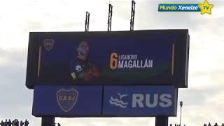 #Aplausometro durante la formación de Boca vs Talleres /2018
