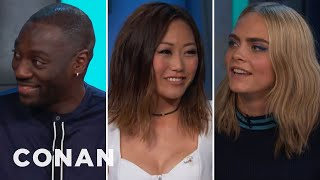 Adewale Akinnuoye-Agbaje Got His Ass Kicked By The quotSuicide Squadquot Ladies  - CONAN on TBS
