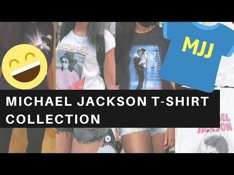 MY MICHAEL JACKSON T-SHIRT COLLECTION | MJFANGIRL TV