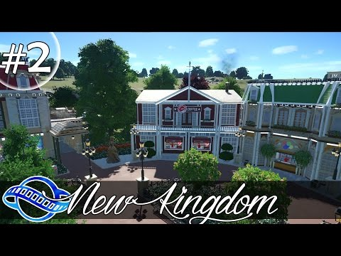 PLANET COASTER - New Kingdom Part 2 - Central plazza & Canal