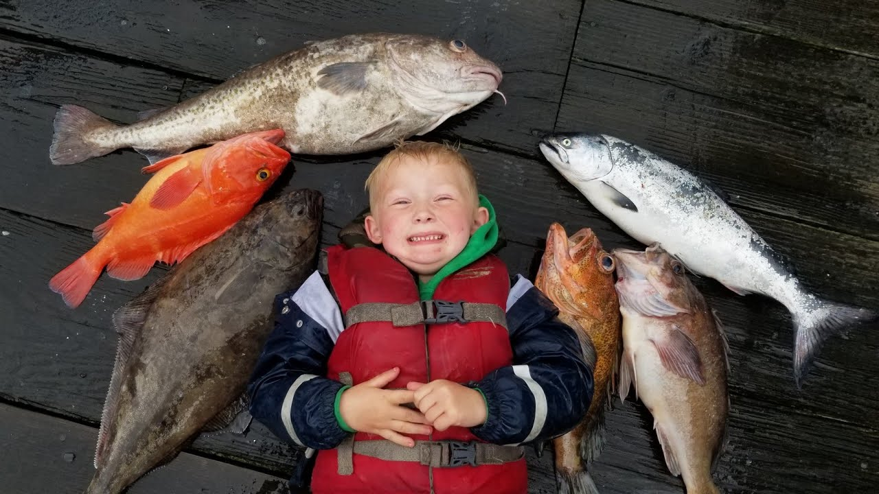 13 Species at Once! Muti-species Catch and Cook - Saltwater Fishing Alaska