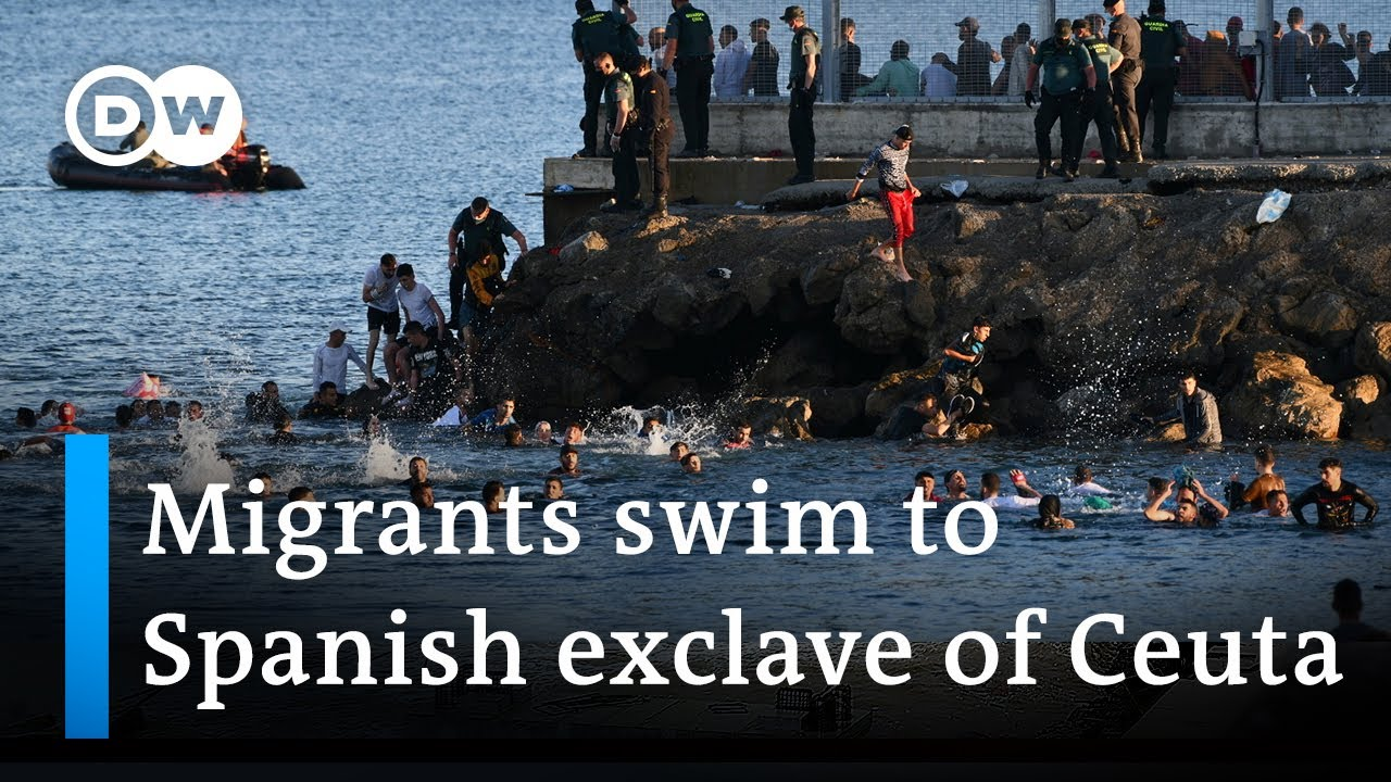Record number of migrants reach Spanish exclave of Ceuta   DW News